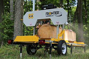 Frontier OS27 Aserraderos — Eléctrico de 5.5kW (400v, S1) & 14ft (4.2m) log deck